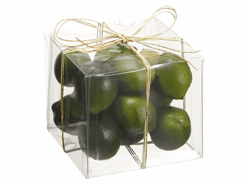 Assorted Artificial Limes in Acetate Box - Set of 12 boxes with 15 limes in each