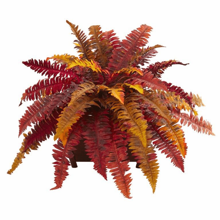 "19"" Autumn Boston Fern Artificial Plant in Planter"