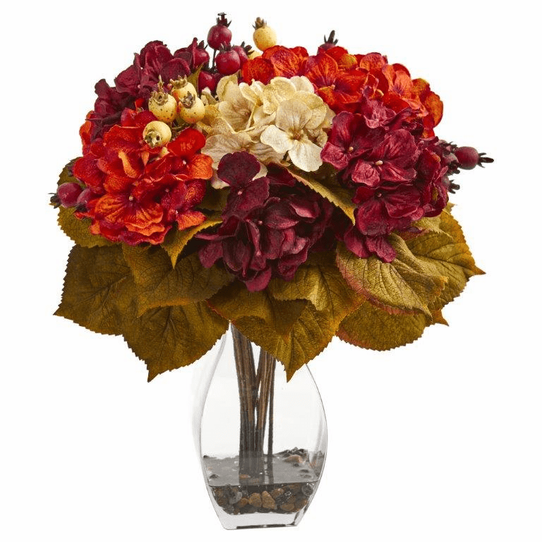 "16"" Autumn Hydrangea Berry Artificial Arrangement"