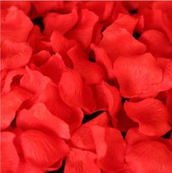 Bag of 50 Silk Rose Petals - Red or White
