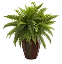 "20"" Boston Fern Artificial Plant in Decorative Planter"