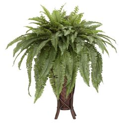 """38"""" Artificial Boston Fern with Stand Silk Plant"""