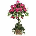 """34"""" Bougainvillea Topiary with Wood Box"""