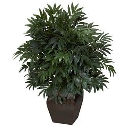 """35"""" Double Bamboo Palm with Decorative Planter Silk Plant"""