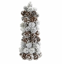 """17.5"""" Artificial Frosted Pine Cone Tree Decoration"""