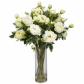 "38"" Giant Peony Silk Flower Arrangement  - White"