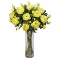 "38"" Giant Peony Silk Flower Arrangement - Yellow"