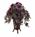 Gloxinia Artificial Plant in Stand Planter - N/A