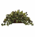 "18"" Grape Leaf Artificial Plant in Decorative Planter"