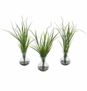 "14"" Grass Artificial Plant in Vase (Set of 3)"