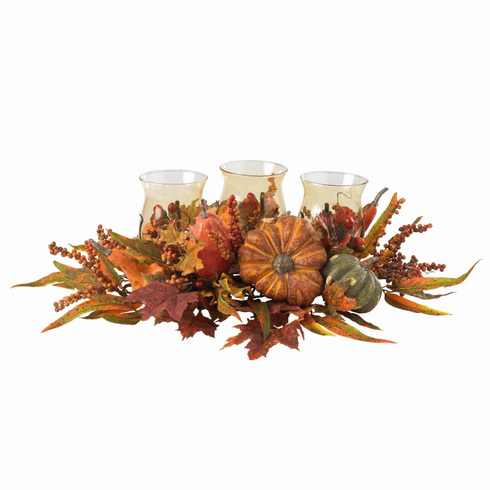 "9.5"" Harvest Triple Candelabrum Centerpiece"