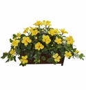 Hibiscus Artificial Plant in Decorative Planter - N/A