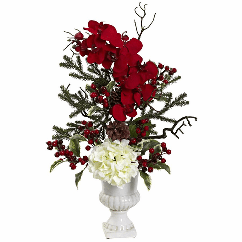 "27"" Holiday Elegance Arrangement with Urn"
