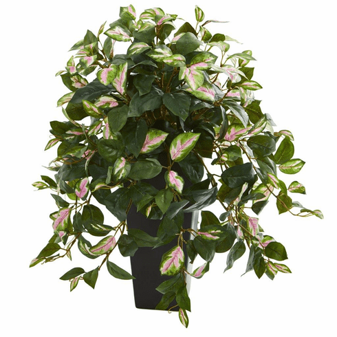 "27"" Hoya Artificial Plant in Black Vase"