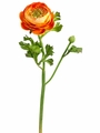 "13"" Artificial Ranunculus Silk Flower Spray Stem - Set of 12"