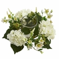 "6"" Hydrangea Artificial Arrangement Candelabrum"