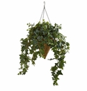 3.5' Ivy Artificial Plant in Cone Hanging Basket Basket