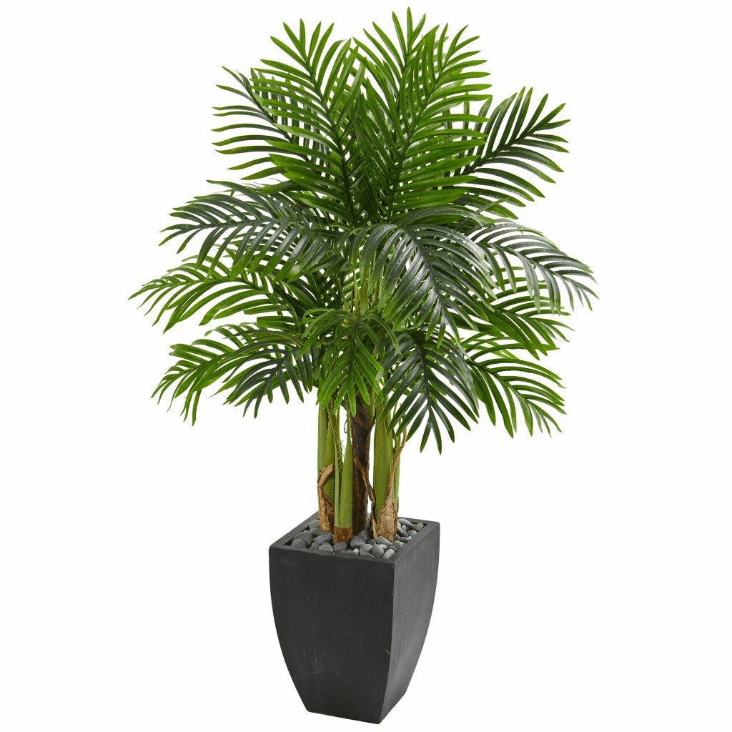 5' Kentia Palm Artificial Tree in Black Planter