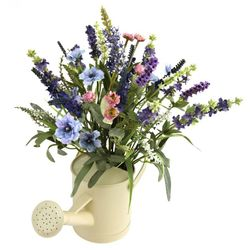 """17"""" Lavender Arrangement with Watering Can"""