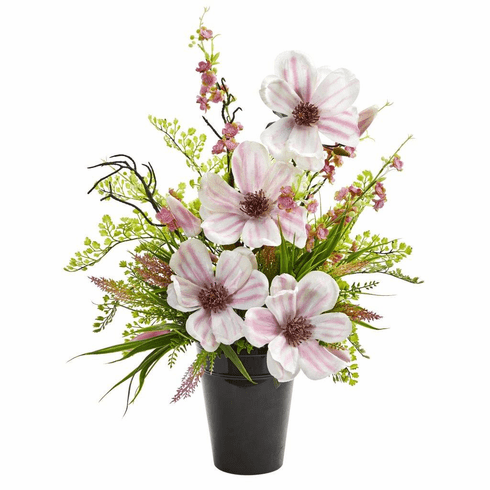 "22"" Magnolias & Cherry Blossom Artificial Arrangement"