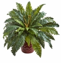 "22"" Marginatum Artificial Plant in Red Planter"