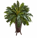 3.5' Marginatum Artificial Plant in Stand Planter