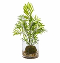 "14"" Mini Areca Palm Artificial Plant in Vase"