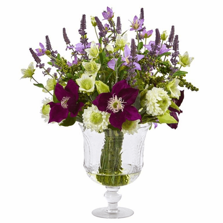 "18"" Mixed Flower Artificial Arrangement in Royal Urn"