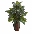 "29"" Mixed Greens Artificial Plant in Decorative Planter"