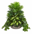 "28"" Mixed Greens Artificial Plant in Stone Planter"