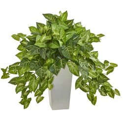 """28"""" Nephthytis Artificial Plant in White Tower Planter"""