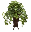 Nepthytis Artificial Plant in Stand Planter - N/A