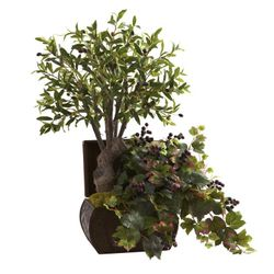 """32"""" Olive Tree & Grape Leaf with Chest"""