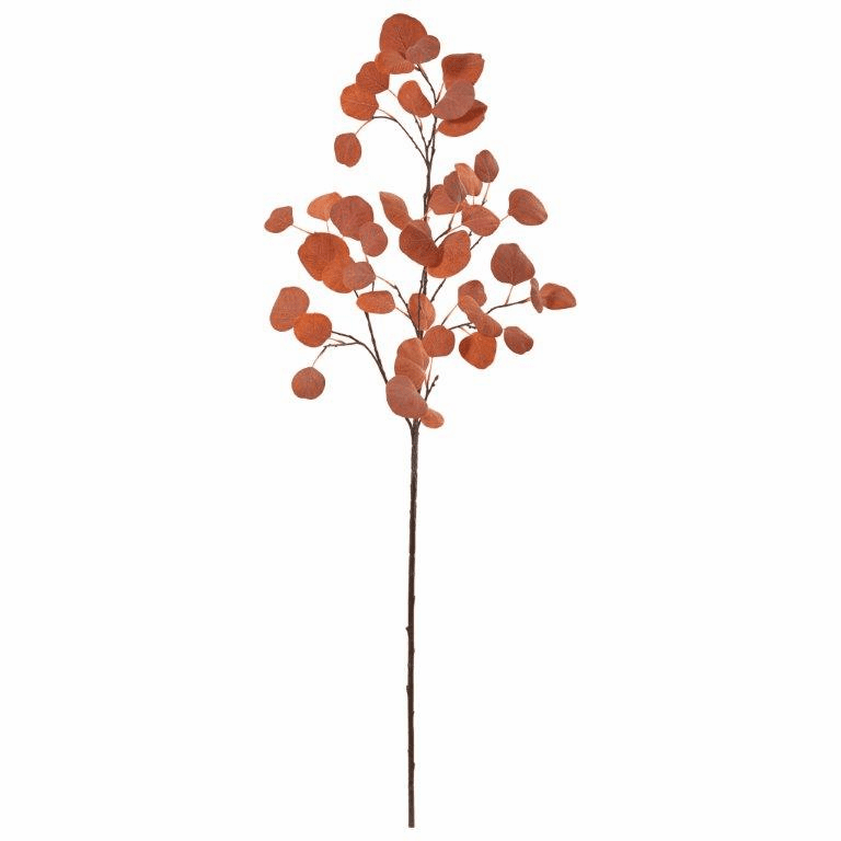 42� Orange Eucalyptus Spray Artificial Plant (Set of 6)
