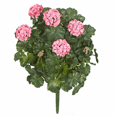 "Outdoor Artificial Geranium Flowers 26"" - Set of 4 UV Infused"