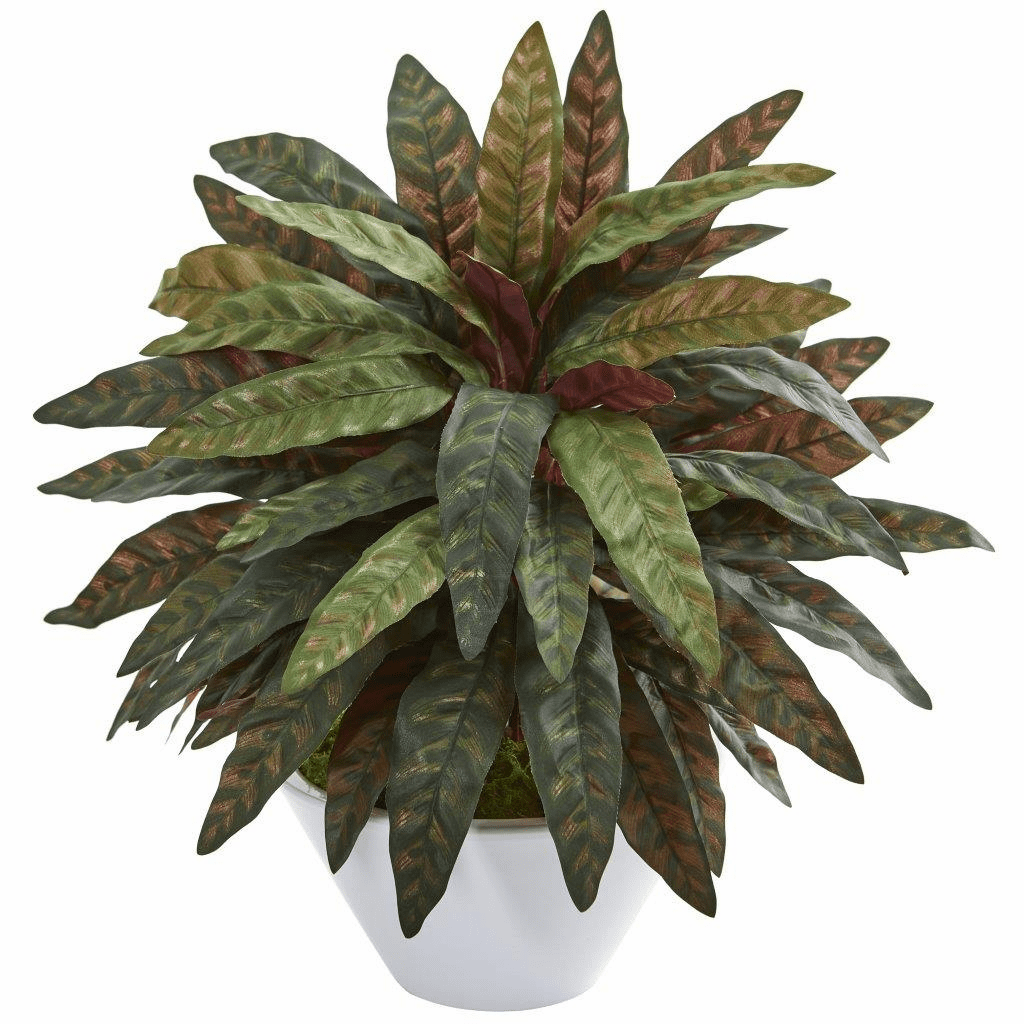 """21"""" Peacock Artificial Plant in White Bowl"""