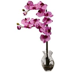 "24"" Phalaenopsis Orchid in Vase - Mauve"