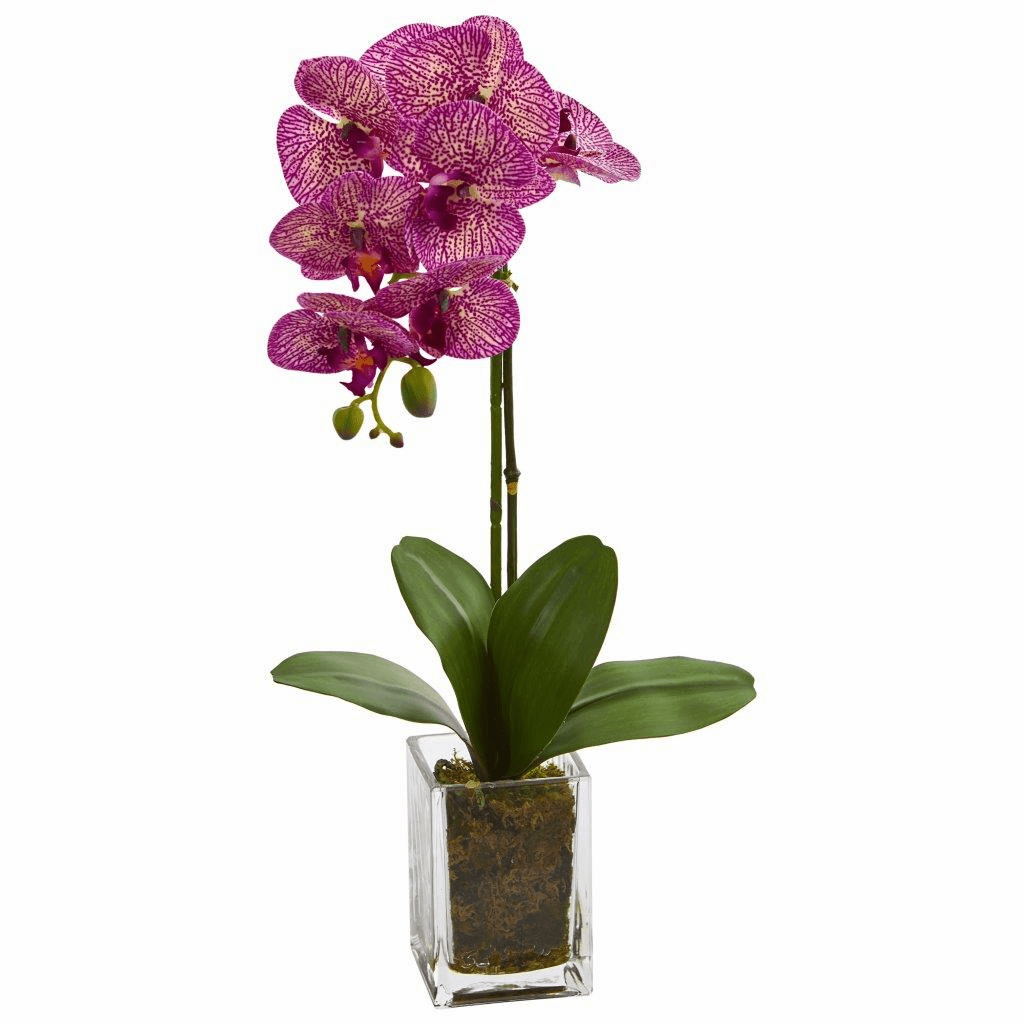 24� Pink Orchid Phalaenopsis Artificial Arrangement in Vase