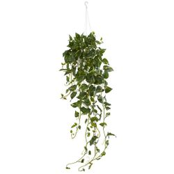 "40"" Pothos Hanging Basket Artificial Plant"