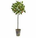 "38"" Potted Artifial Orange Tree Plant"