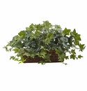 """12.5"""" Artificial Puff Ivy withLedge Basket"""