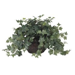 """18"""" Puff Ivy with Vase Silk Plant"""