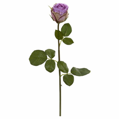 "Purple 18"" Rose Spray Artificial Flower (Set of 12)"