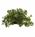 Raspberry Artificial Plant in Decorative Planter - N/A