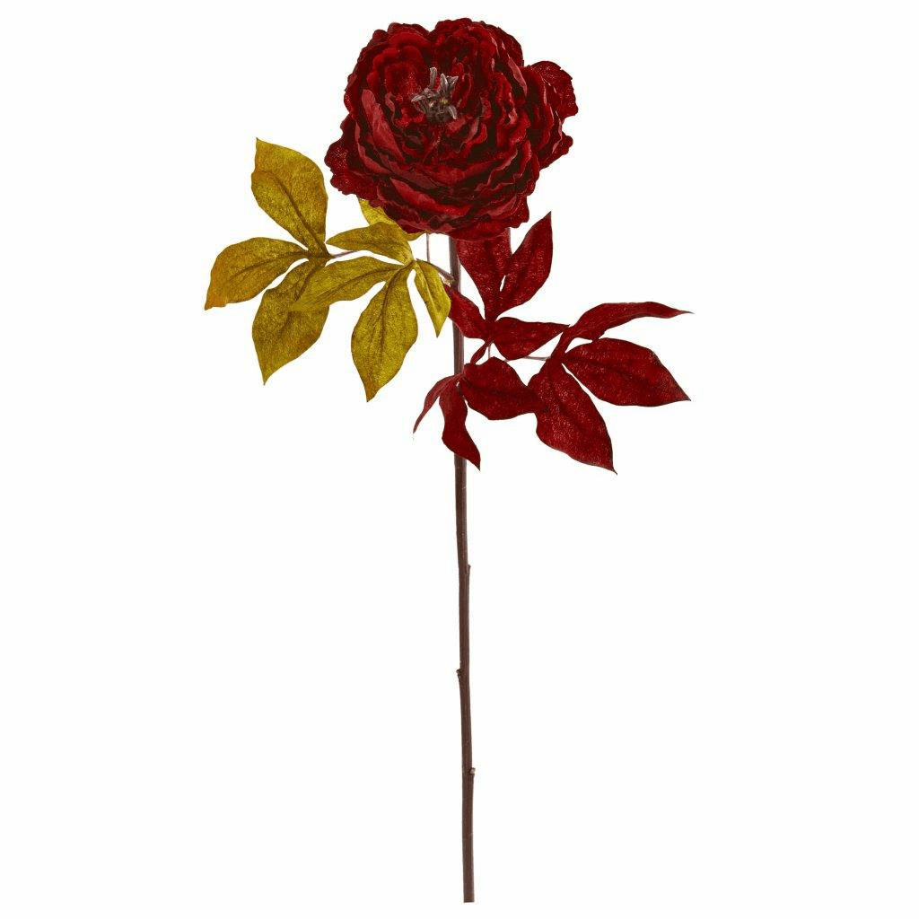 30� Red Peony Artificial Flower (Set of 6)