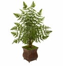 3' Ruffle Fern Artificial Palm Tree in Metal Planter