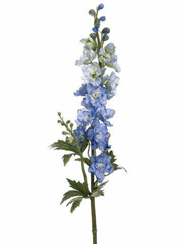 "Set of 12 - 35"" Artificial Silk Delphinium Flower Spray x2 with Water-Proof Stem"