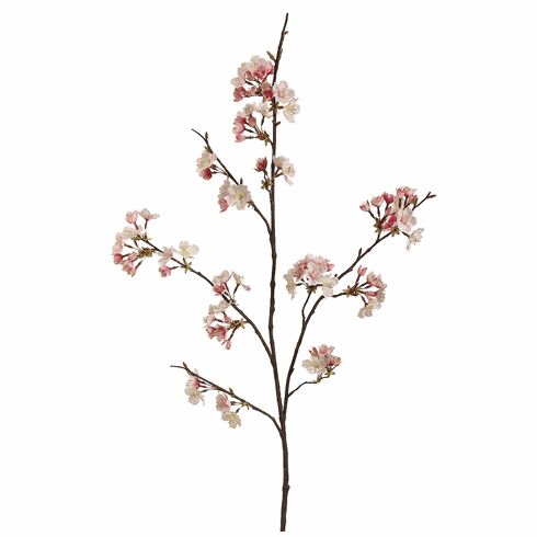 """Set of 12 - 42"""" Artificial Silk Cherry Blossom Spray  (shown in Pink)"""