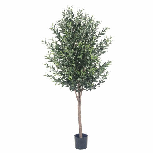 Set of 2 - 5' Silk Olive Trees with 2,560 Leaves