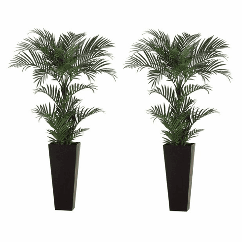Set of 2 - 6' Areca Silk Palm Trees in Decorative Containers